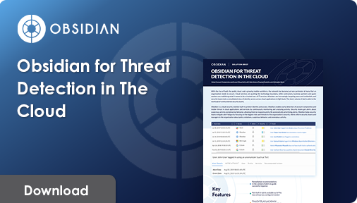 Obsidian for Threat Detection in The Cloud